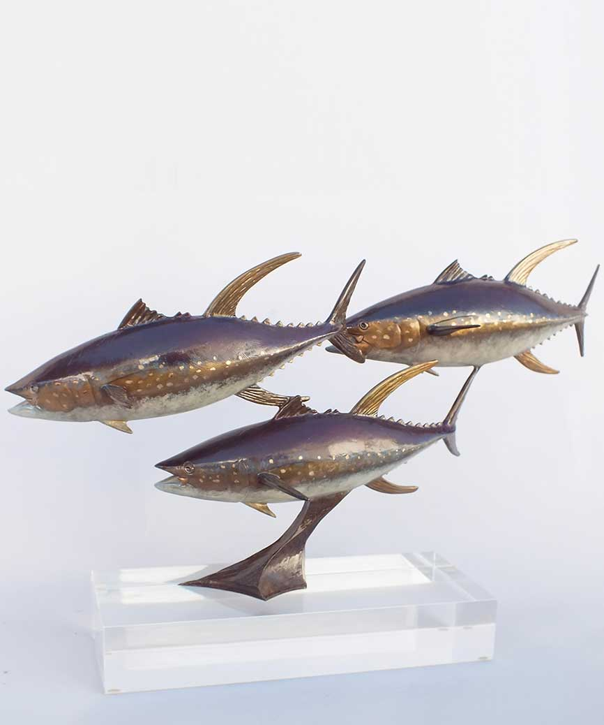 Chris Bladen Sculpture Tuna Trio